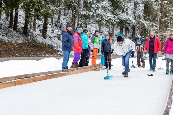 Alpenvereins Eisstockschießen im Steinbach